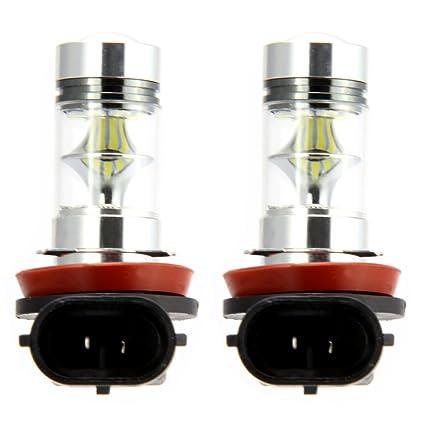 2 x H11 / H8 Auto Niebla luz Bombilla de conducción de 100W 6000K ...