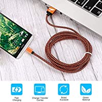 Cable Micro USB Carga Rápida Aioneus Cargador Android 3-Pack 2M Cable Android Nylon Movil Cables Cargador para Samsung S7 S6 S5 j7 j5 j3 Tablet Huawei ...