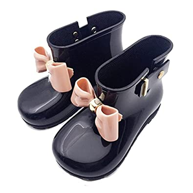 5dc1720e916b Waterproof Child Rubber Jelly Soft Infant Shoe Girl Baby Rain Boots Kids  With Bow Children (