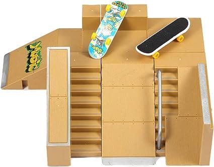 Finger Skateboard Park Fingerboard Ramps Mini Board Toy Skate Kids Deck Ramp Set