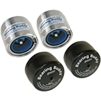 "Bearing Buddy Stainless Steel Bearing Protectors (1.980"" Diameter) with Auto Check With Bras - Pair"