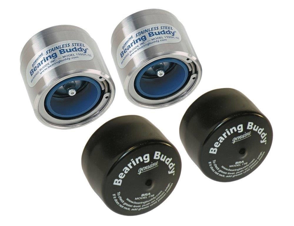 Bearing Buddy Stainless Steel Bearing Protectors (1.980'' Diameter) with Auto Check With Bras - Pair