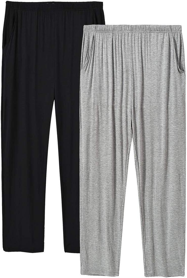 JINSH Men's Lounge Pants Modal Pajama Pants Pockets PJ Pajama Bottoms Sleepwear Pants