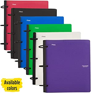 Five Star Flex Hybrid NoteBinder, 1 Inch Binder with Tabs, Notebook and 3 Ring Binder All-in-One, Assorted Colors, Color Selected for You, 1 Count (29328)