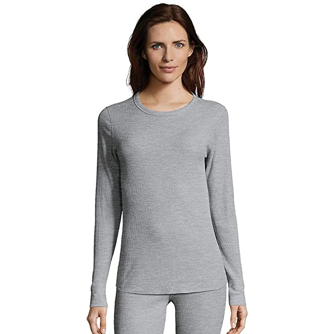 809a883fe1e Image Unavailable. Image not available for. Color  Hanes Women s Plus Size  Waffle Weave Thermal Top ...