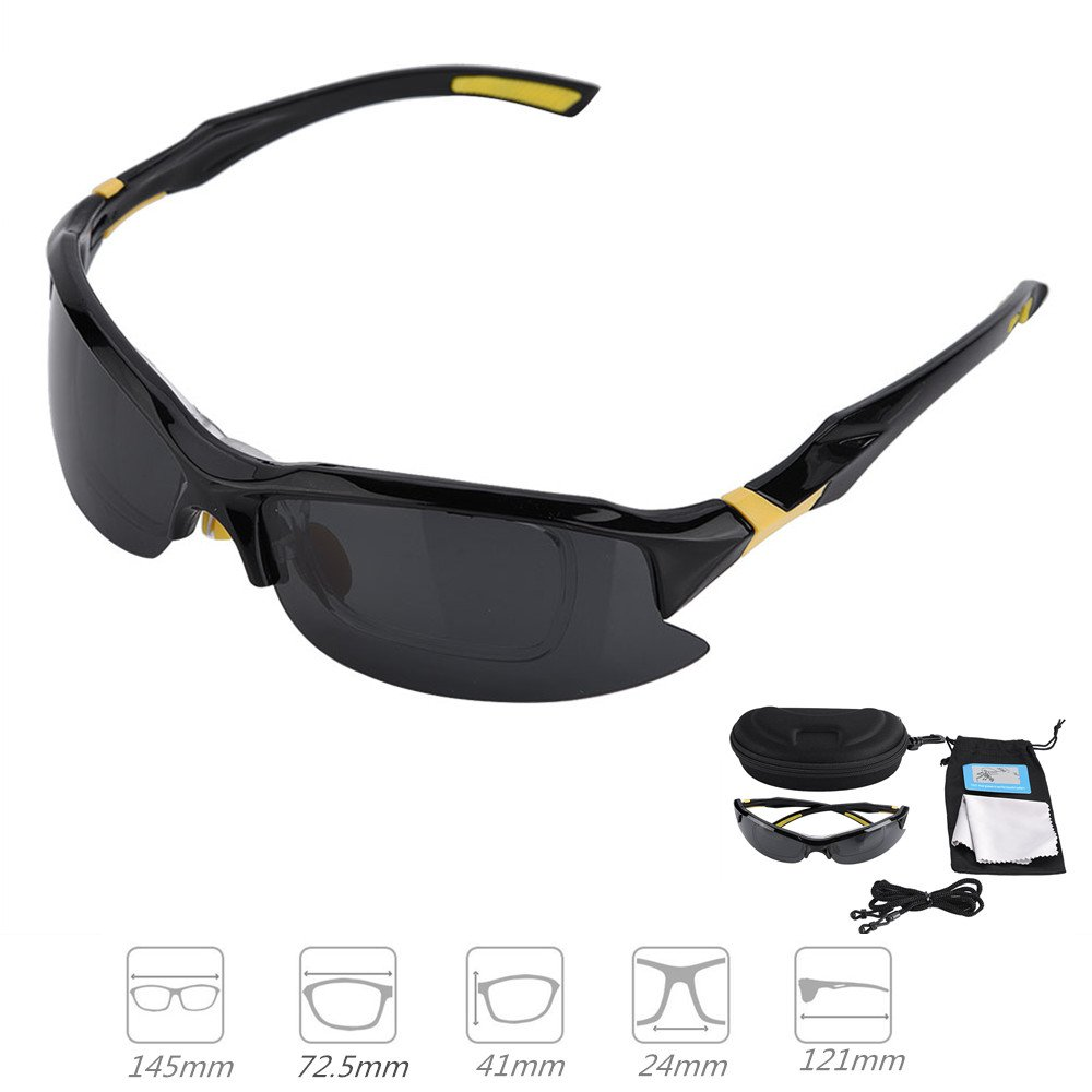 Outdoor Polarized Fashion Cycling Bicycle Sports Sunglasses 100% UV Protective With Storage Bag