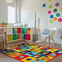 "Smithsonian Alphabet Friends Educational Rug 5'3""x7'5"