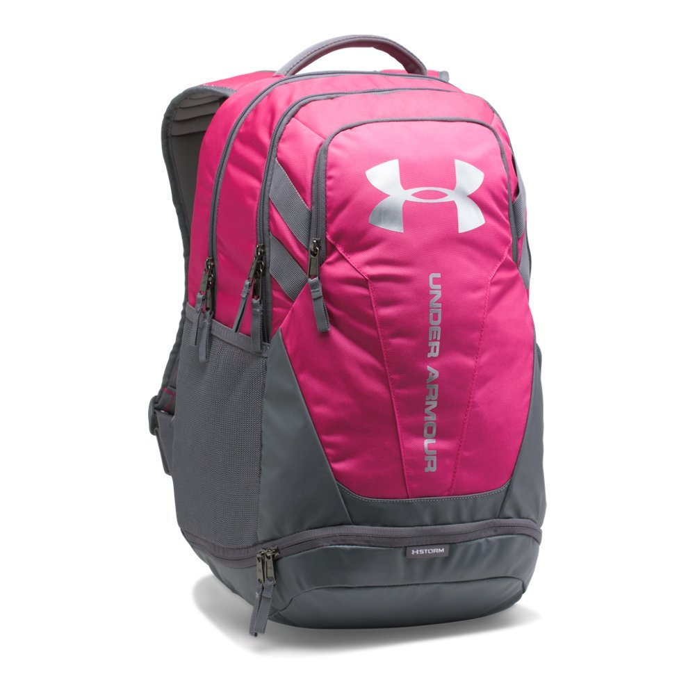 Under Armour Hustle 3.0 Backpack, Tropic Pink (654)/Silver, One Size Fits All by Under Armour