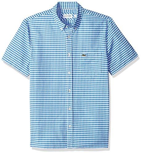 Lacoste Mens Short Sleeve Oxford Button Down Collar Reg Fit Woven Shirt, CH5815