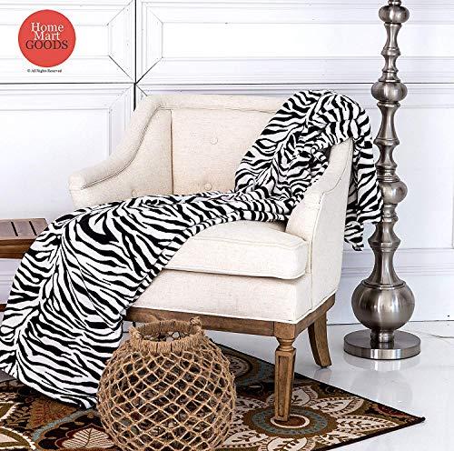 (Home Must Haves Super Soft Zebra Skin Black White Micro Fiber Blanket King Size 90