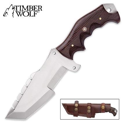 Amazon.com: Timber Wolf Big Game Tracker Cuchillo de ...