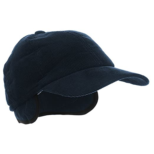 9a40407f8d9be Image Unavailable. Image not available for. Color  MegaCap Men s Corduroy Winter  Baseball Cap w  Earflaps LARGE Navy Blue