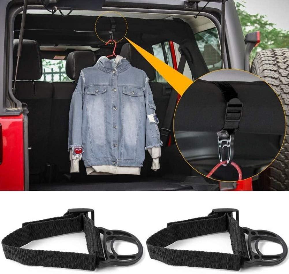 Kleiderhaken Für Jeep Wrangler Cj Yj Tj Lj Jk Jku Jl Jlu Jt Sports Sahara Freedom Rubicon Unlimited X 2 4 Türen Schwarz 2 Stück Auto