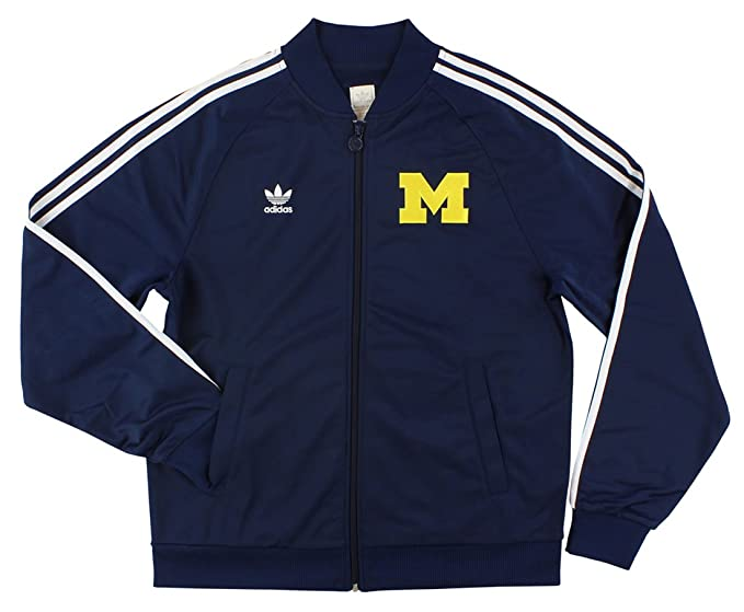 performance sportswear timeless design low price Amazon.com: adidas Mens University of Michigan Track Jacket ...