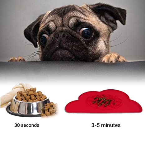 STXMALL Mascota Comida Lenta Bowl Perro Slow Feeder Bowl Slow Eating Dog Bowl Alimentador Interactivo Slow