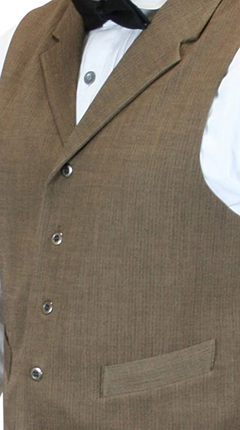 Men's Steampunk Vests, Waistcoats, Corsets Mens Textured Dress Vest $61.95 AT vintagedancer.com