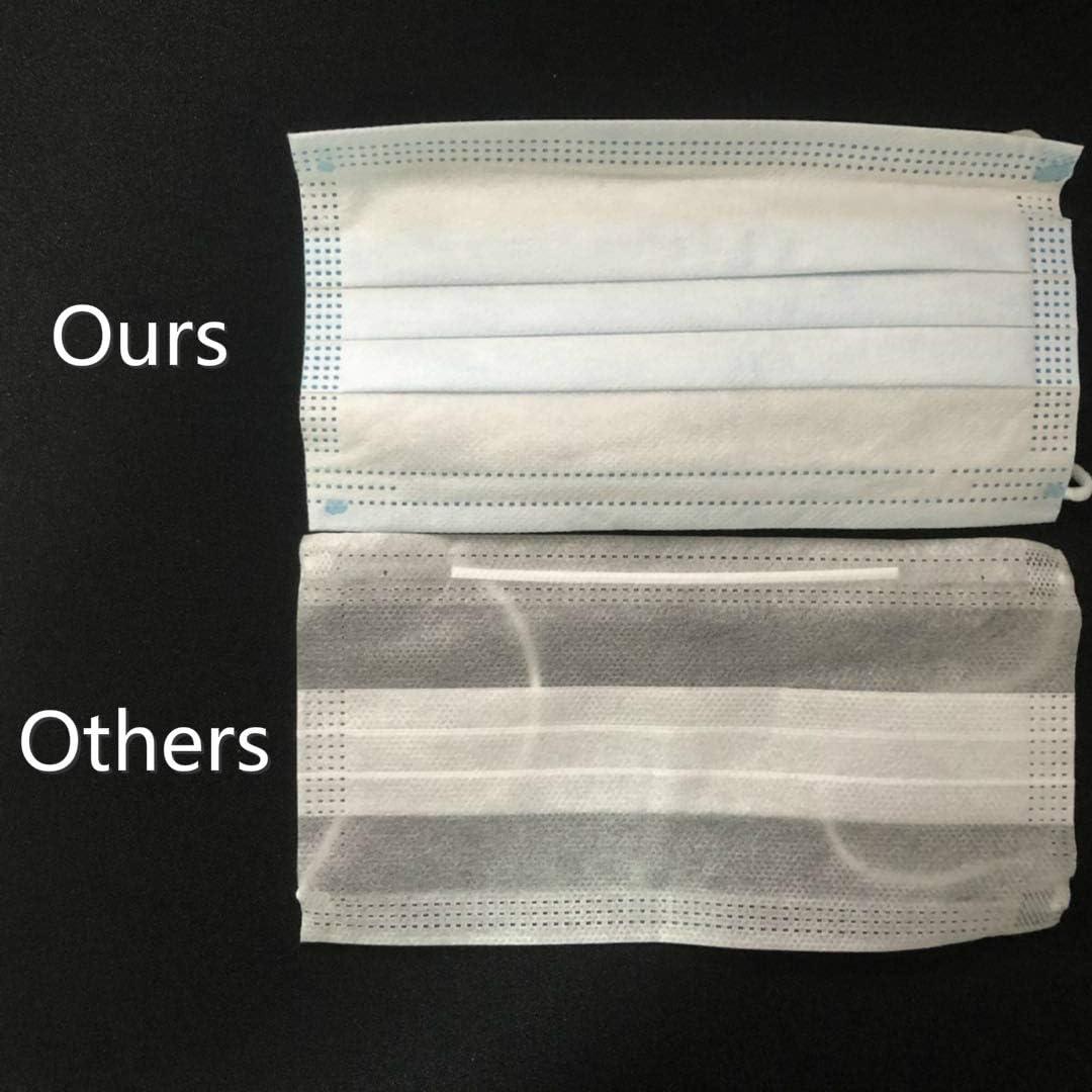 M-a-s-c//arilla//s Desechables de 3 Capas protecci/ón contra el Polvo con Pendientes