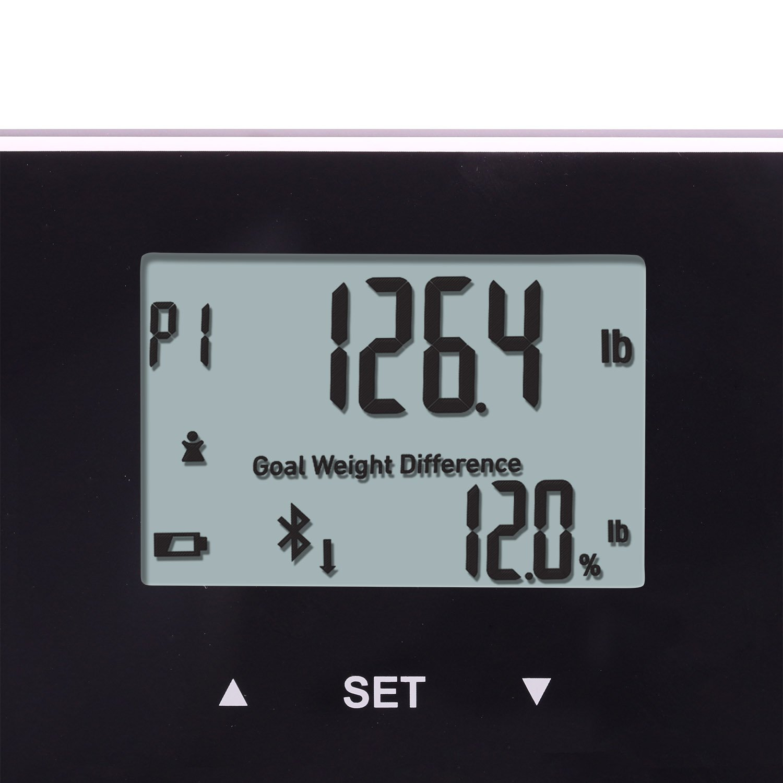 Amazon.com: Taylor Bluetooth Body Fat Smart Scale w/ 400 lb Capacity ...