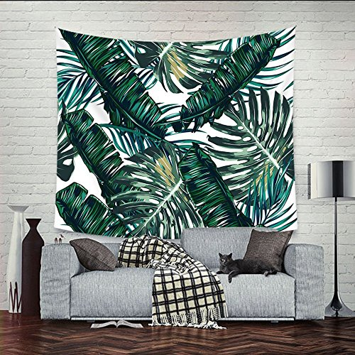Wall Hanging Tapestry, Palm Tree Leaves Tapestries, Picnic Beach Sheet Home Decorative Tapestry Wall Hanging Bedspread Blanket Banana Leaf
