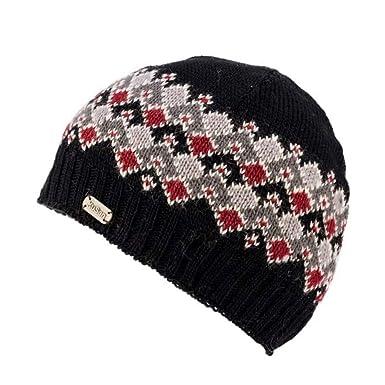 c329c65cc54436 Kusan 100% Wool Fine Gauge Beanie Hat PK1804 (Black): Amazon.co.uk: Clothing