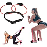 DINAPENTS Women Fitness Booty Bands Exercise Resistance Bands with Adjustable Waist Belt for Legs Butt Ankle Resistance Train