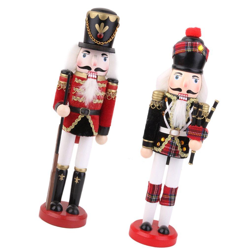 Blesiya Soldato Schiaccianoci Dipinte Mano Ornamenti Decorazioni Natalizie Regalo Giocattoli Natale