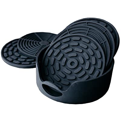 Black Silicone Coasters