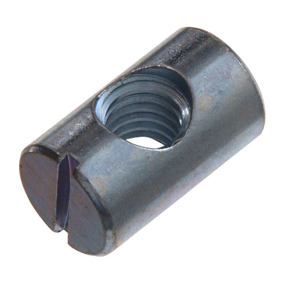 confezione da 4 Dado barile per bullone mobili intaglio m6 x zp lungo 14mm