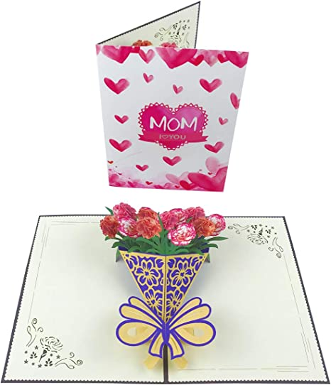 Peachy Mothers Day Flower Card Pop Up Happy Mothers Day Cards 3D Birthday Cards Printable Opercafe Filternl