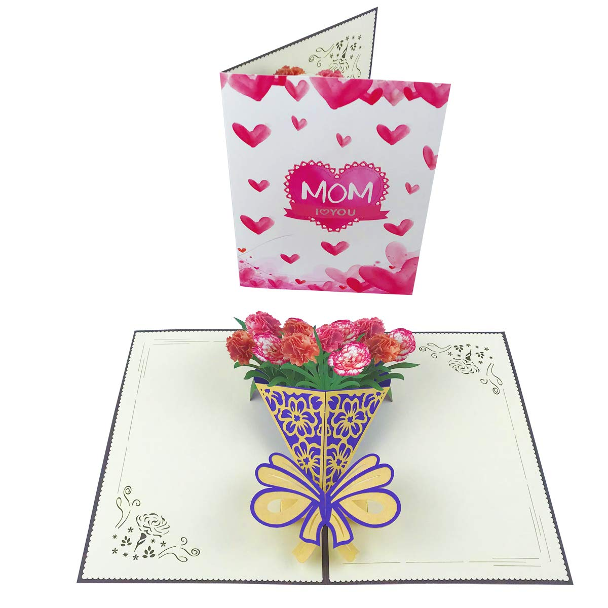 Amazon Mothers Day Flower Card Pop Up Happy Cards 3D Milkshake Handmade Greeting Birthday For Mom With Envelope And
