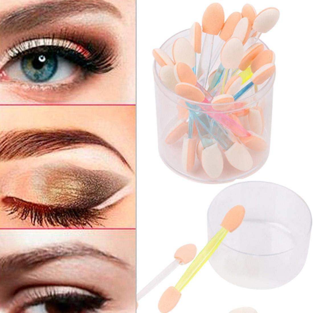 24 doble cabeza cepillo para sombra de ojos maquillaje doble Fin cepillo para sombra de ojos Eyeliner herramienta de aplicación de esponja sunshineboby: Amazon.es: Belleza