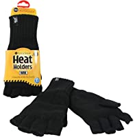 Heat Holders Men's Warm Winter Thermal Fingerless WRK Work Gloves