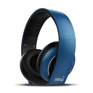 LQQAZY Auricular Inalámbrico Ajustable Graves Juegos Teléfono Celular/TV / Computadora Auriculares Bluetooth,Blue: Amazon.es: Electrónica