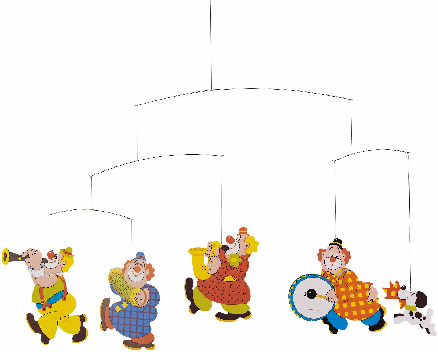 Flensted Mobiles Circus Hanging Nursery Mobile - 22 Inches Cardboard
