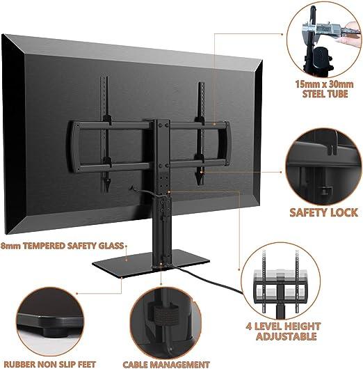 Universal Soporte Altura Ajustable para TV Base del Televisor con la Pantalla 32-65 Pulgadas: Amazon.es: Electrónica