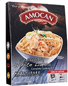 AMOCAN Singapore White Laksa Complete Cooking Kit, 170g