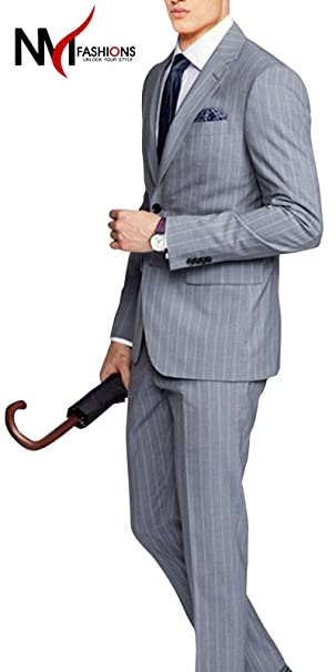 Amazon.com: NMFashions Kendal Stripe Gray High QAULIITY ...
