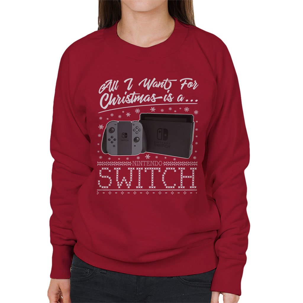 Coto7 All I Want for Christmas is A Nintendo Switch Women\'s ...