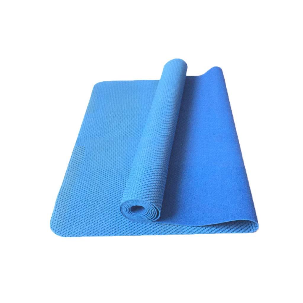 SHJICH Ultradünne Reise-Yoga-Matte 2mm Mesh-Gummi-Yoga-Matte Faltende Yoga-Matte