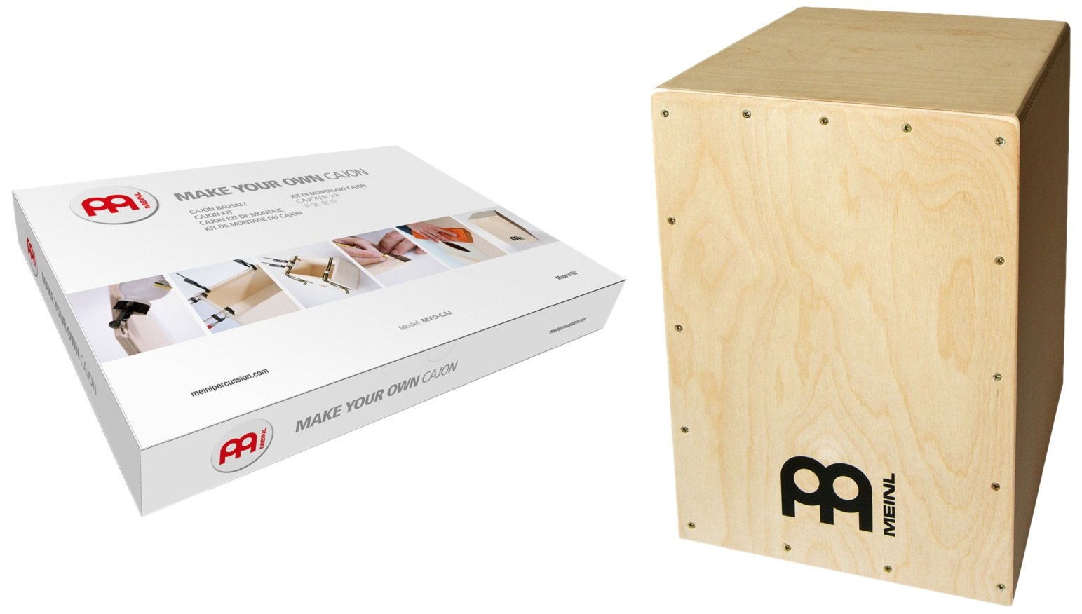 Meinl Make Your Own Cajon Kit with Snares - MADE IN EUROPE - Baltic Birch Wood, Includes Easy to Follow Manual (MYO-CAJ) by Meinl Percussion