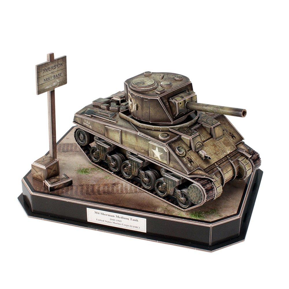 258 Pieces Tiger Tank 3D Puzzle CubicFun Js4201h