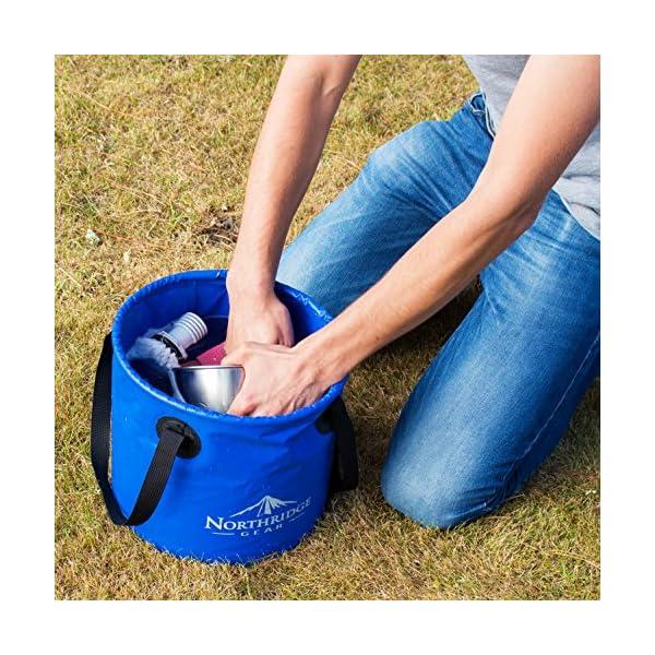 61S eO3m5YL Falteimer Faltschüssel Spülschüssel   Camping Angeln Garten Party   Einsetzbar als Faltbare Wasch-Schüssel…