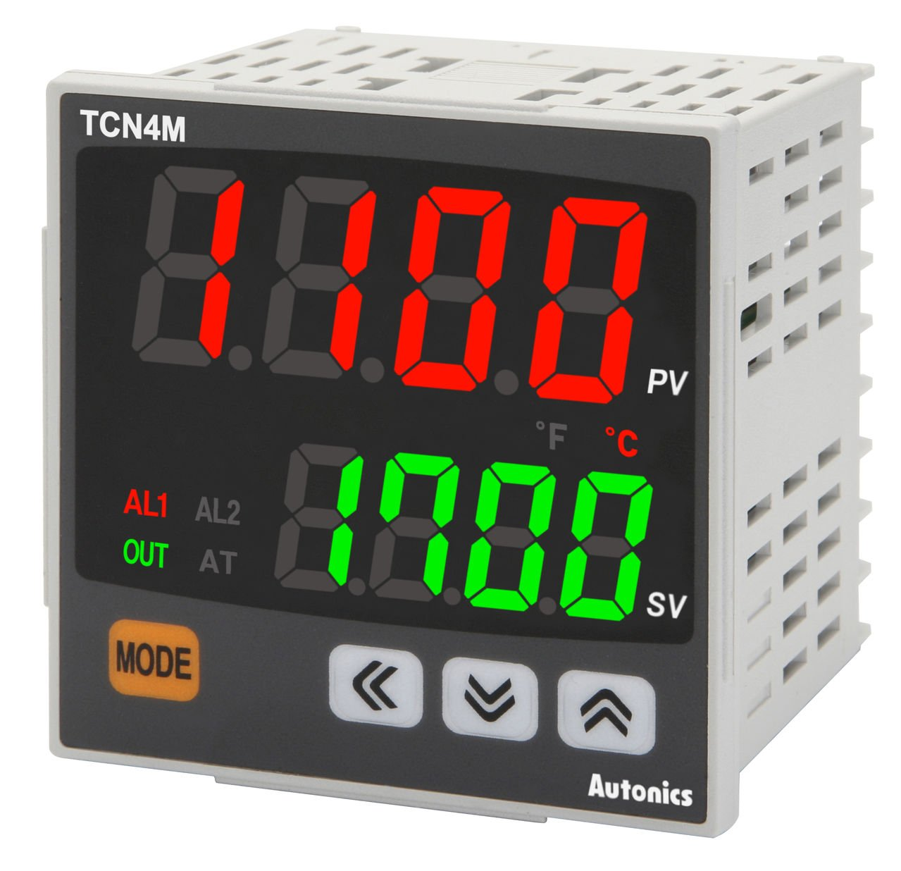 Autonics TCN4M-22R Temp Control, W72 x H72, Dual display 4 Digit, PID Control, Relay & SSR Output, 2 Alarm Output, 24 VAC,24-48VDC by Autonics USA, Inc