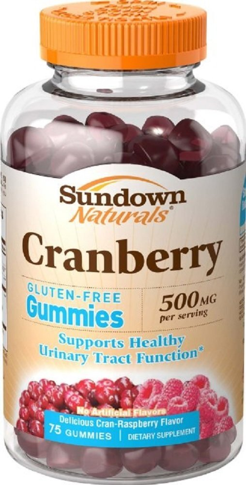 Sundown Naturals Cranberry 500 mg, 75 Gummies