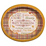 """Give your turkey day table some rustic charm with these Fall sayings Thanksgiving oval paper plates. Measuring 12.25"""" x 10"""" and featuring all sorts of thoughtful Thanksgiving phrases, these paper plates will make a lovely choice for your Than..."""