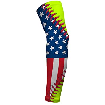 8e88d8e88a Image Unavailable. Image not available for. Color: Softball Lace America  Flag Arm Sleeves