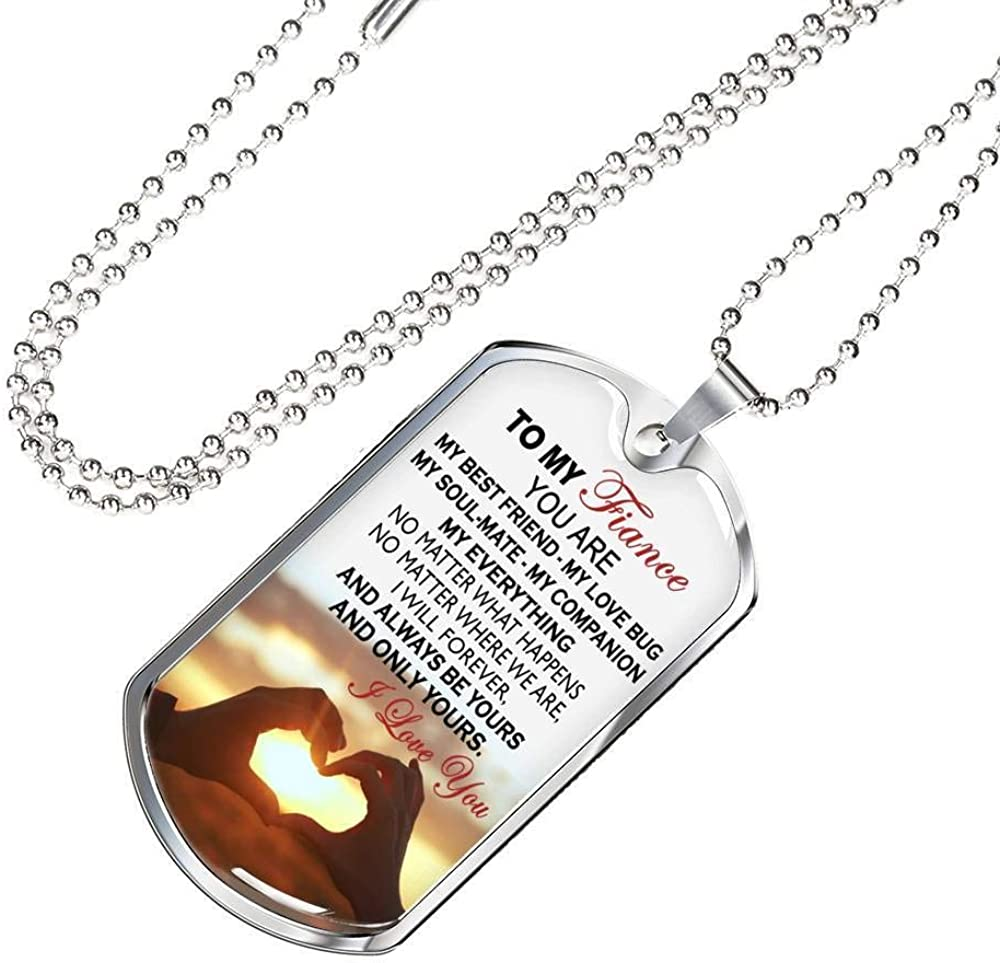 ThisYear Son Dog Tag Personalized from Mom Dad Your Will Never Lose Quotes Necklace Chain Gag Gift Stainless Steel