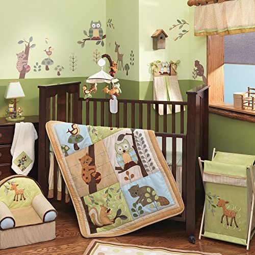 Lambs & Ivy Enchanted Forest 6-Piece Crib Bedding Set