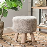 Christopher Knight Home 299637 Living Mosiac Hand Knit Wool Fabric Stool (Grey)