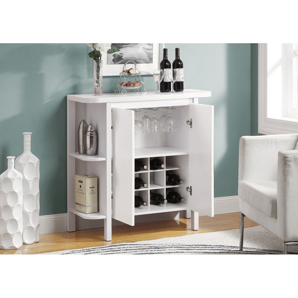 Amazon.com: Monarch Bar Unit With Bottle And Glass Storage, 36 Inch, White:  Kitchen U0026 Dining